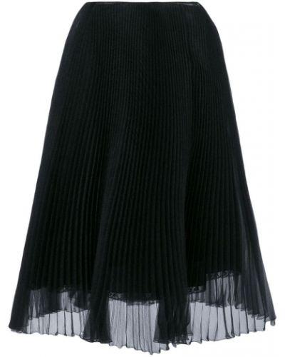 Плиссированная юбка прозрачная Prada