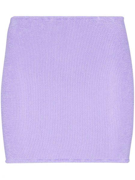 Fioletowa spódnica mini z nylonu Hunza G