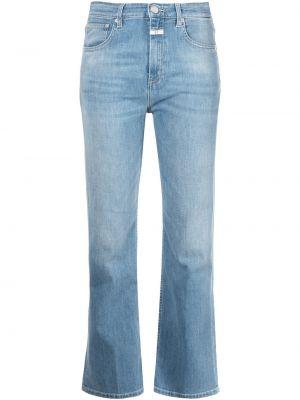 Хлопковые синие прямые джинсы Closed