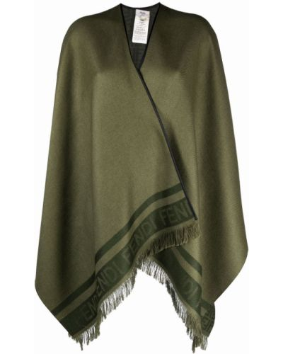 Зеленая шелковая кофта Fendi