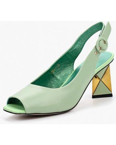 Зеленые босоножки на каблуке Berkonty