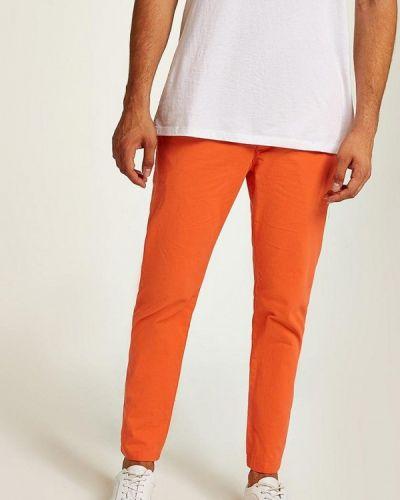 Оранжевые брюки повседневные Topman