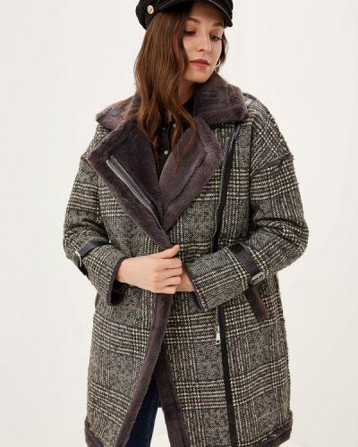 Зимнее пальто серое пальто Grand Style