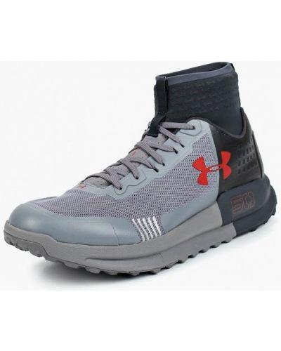 Серые высокие кроссовки Under Armour