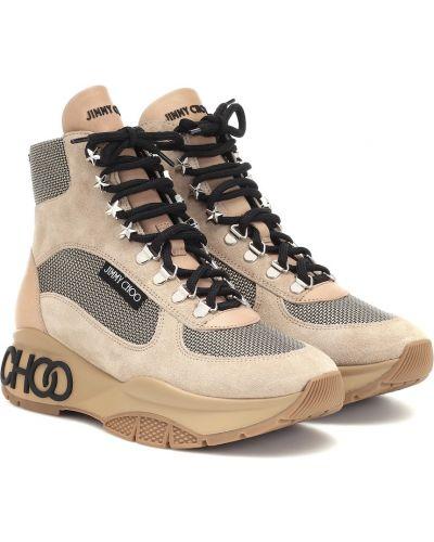 Ботинки трекинговые спортивные замшевые Jimmy Choo
