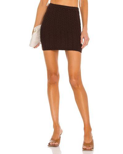 Brązowa spódnica mini wełniana Danielle Guizio