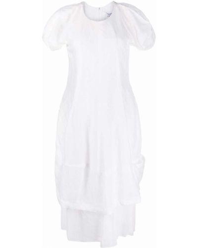 Белое платье миди круглое с круглым вырезом Comme Des Garçons Comme Des Garçons