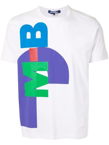 Прямая белая футболка с надписью из органзы с круглым вырезом Junya Watanabe Comme Des Garçons Pre-owned