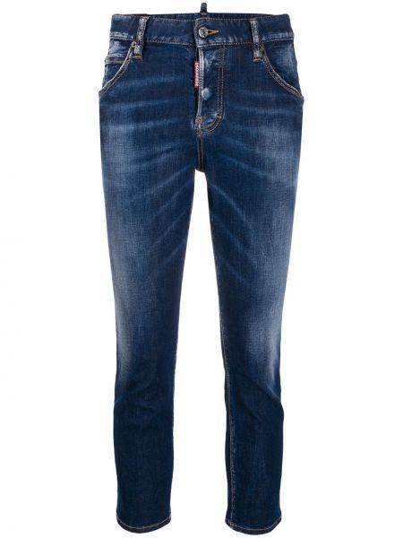 Укороченные джинсы - синие Dsquared2