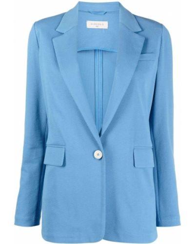 Однобортный синий удлиненный пиджак на пуговицах Circolo 1901