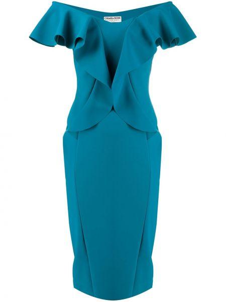 Платье мини миди синее Le Petite Robe Di Chiara Boni