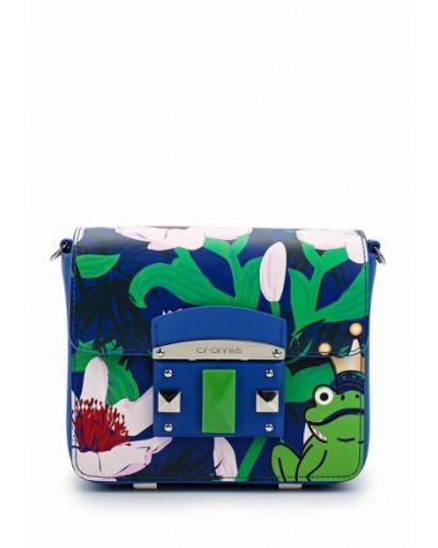 Синяя сумка через плечо Cromia