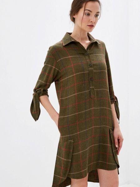 Платье прямое зеленый Ricamare