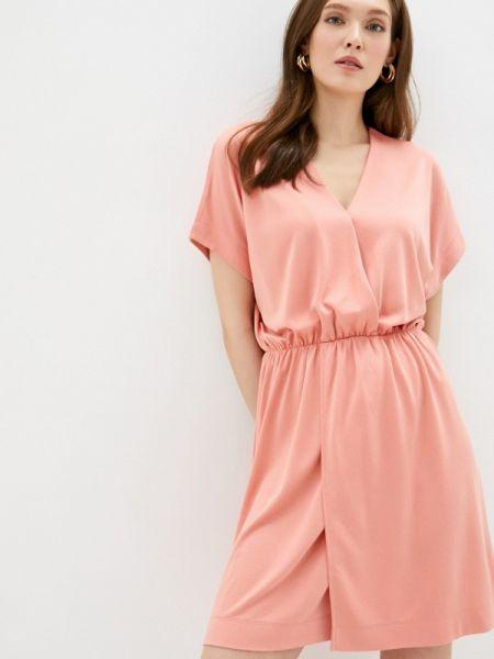 Платье розовое прямое Sela