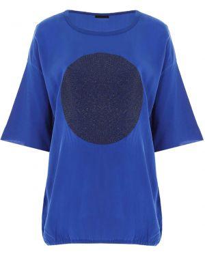 Футболка из вискозы - синяя Roque