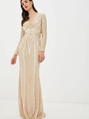 Платье осеннее золотое Soky & Soka
