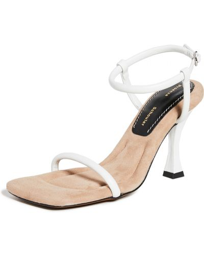 Sandały skorzane klamry peep toe Proenza Schouler