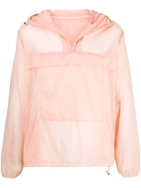 С рукавами розовый свитер на молнии с воротником Gmbh