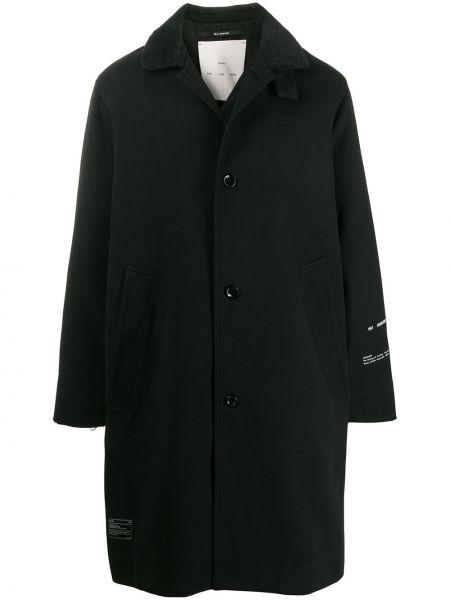 Czarny płaszcz bawełniany z długimi rękawami Song For The Mute
