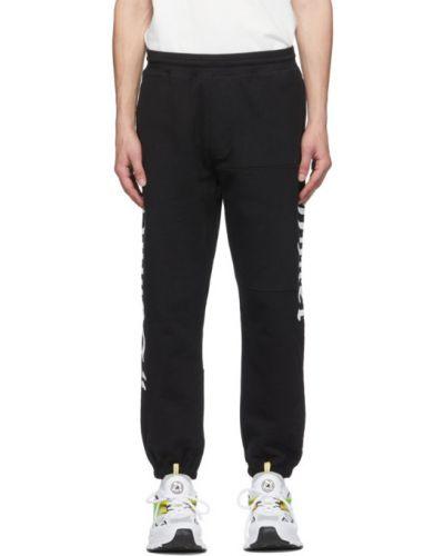 Махровые черные брюки с манжетами с карманами Vyner Articles