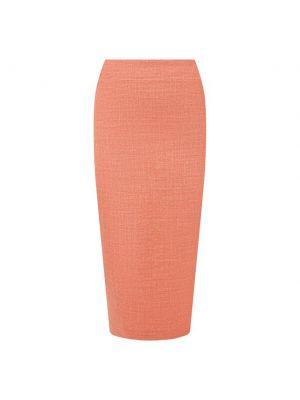 Шерстяная оранжевая юбка с подкладкой Kiton