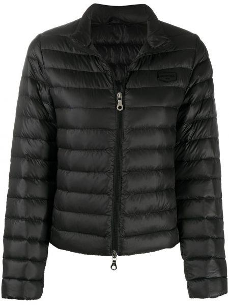 Пуховая черная куртка на молнии Duvetica