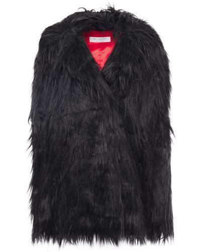 Черное пальто из искусственного меха с карманами Philosophy Di Lorenzo Serafini