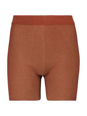 Коричневые короткие шорты Jacquemus