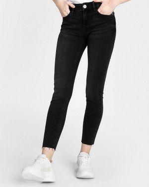 Черные джинсы-скинни с пайетками O'stin