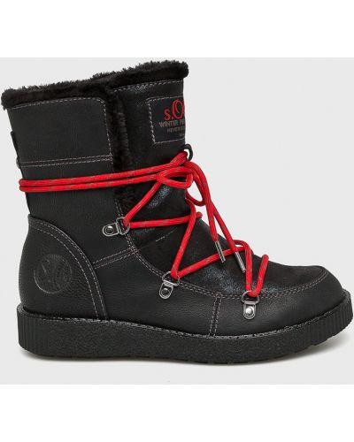 Сапоги на шнуровке на каблуке S.oliver