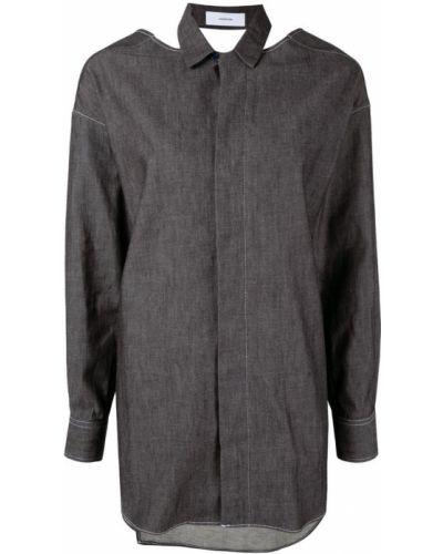 Длинная рубашка - черная Facetasm