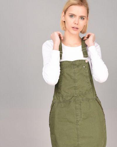 Платье на бретелях - зеленое Gas