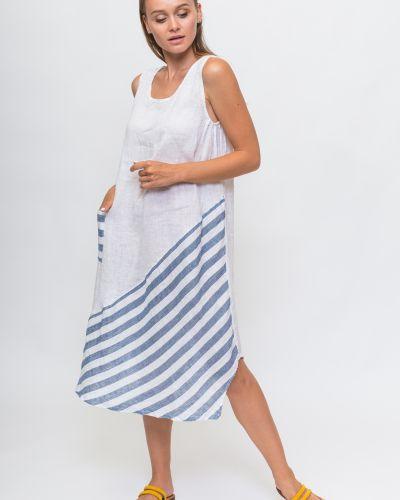 Платье в полоску - белое Puro Lino
