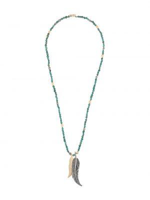 Синее ожерелье с подвесками с заклепками M. Cohen