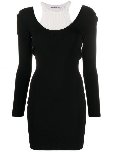 Платье с открытой спиной платье-свитер T By Alexander Wang
