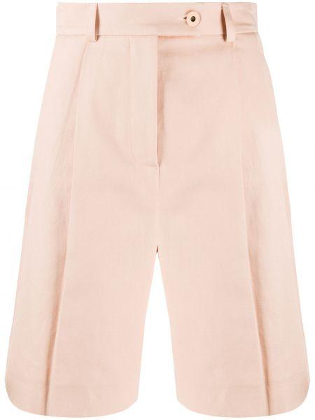 Розовые льняные шорты с карманами Mrz