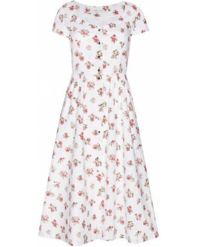Платье миди молочное - белое Alexander Terekhov