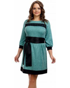 Платье с поясом платье-сарафан из вискозы Liza Fashion