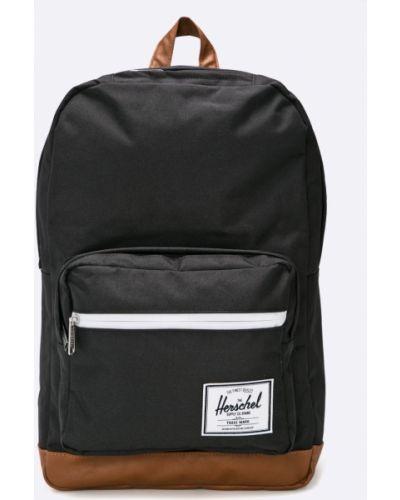 Czarny plecak na laptopa w paski Herschel