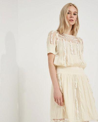 Белое платье весеннее Twin-set Simona Barbieri