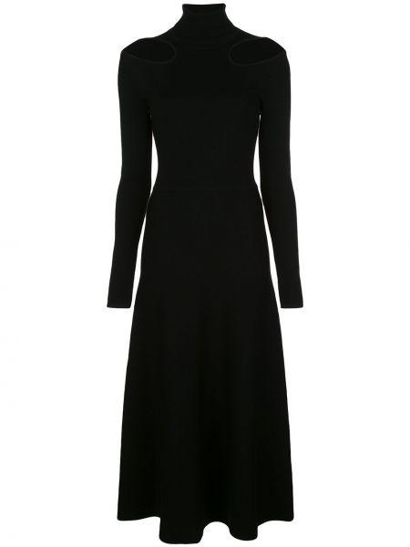 Платье миди деловое черное Jason Wu