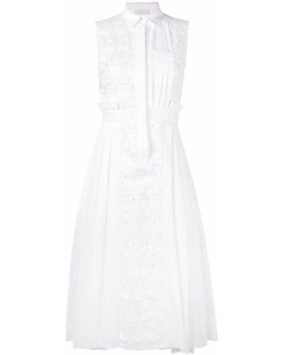 Платье с вышивкой Capucci