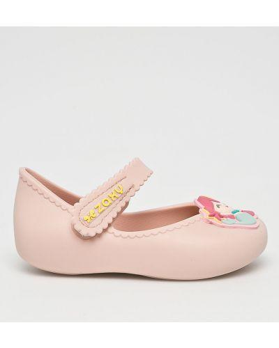 Розовые балетки текстильные Zaxy