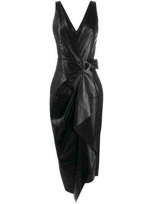 Кожаное платье - черное Isabel Marant