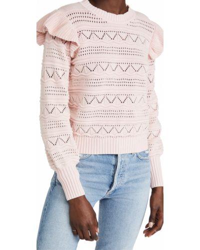 Хлопковый розовый длинный свитер с длинными рукавами Generation Love