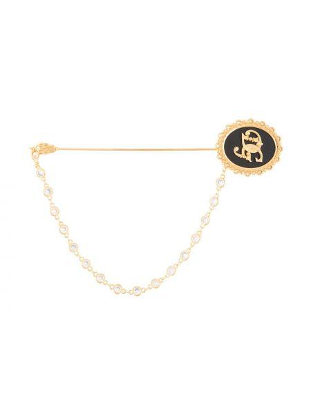 Broszka ze złota złoto Dolce And Gabbana