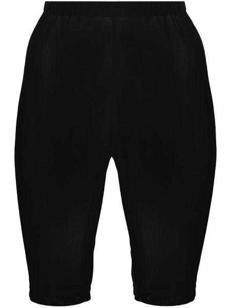 С завышенной талией черные шорты сетчатые David Koma