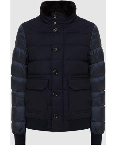 Комбинированная куртка - синяя Moorer