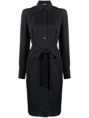 Платье с поясом платье-рубашка классическое Tom Ford