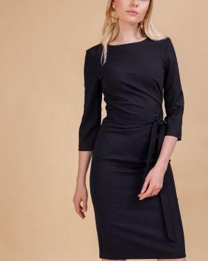 Платье с поясом классическое на молнии Emka